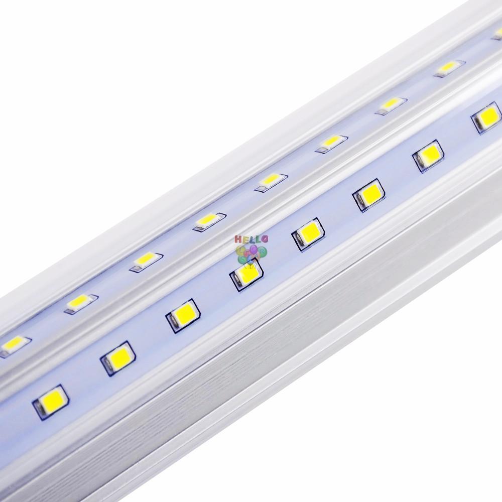 V 자형 2FT 3FT 4FT 5FT 6FT 8FT 쿨러 도어 LED 튜브 T8 통합 LED 튜브 더블 사이드 LED 조명 85-265V 주식