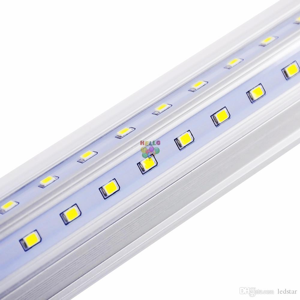 V-formé 2ft 3ft 3ft de 4ft de 5ft 6ft 8ft 8ft de la porte de la porte LED Tubes T8 Tubes à LED intégrées Double côtés LED lumières 85-265V stock en US