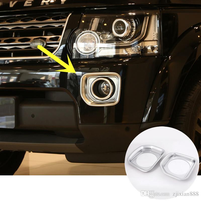 ABS Chrome Front Fog Light Cover Trim For Land Rover LR4