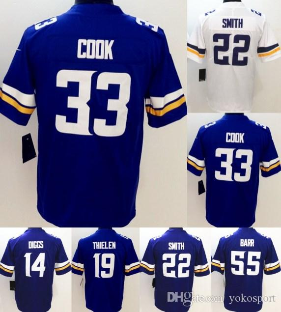cdacaa946fd ... Men Vapor Untouchable Limited Jerseys White Rugby 22 Smith 33 Dalvin  Cook 19 Adam Thielen 14 Mens Nike Minnesota Vikings 19 Adam Thielen Game ...