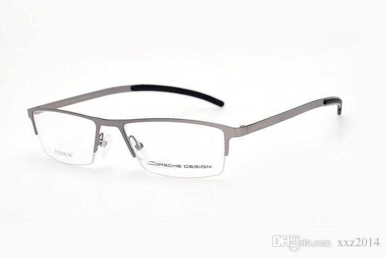 Quality P9033 Men Business pure-titanium semi-frame super-light glasses & durable male prescription eyeglasses cheap factory outlet price