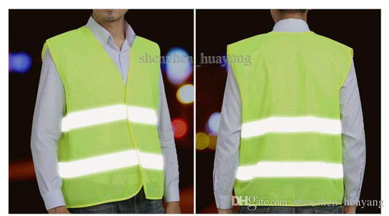 High Visibility Working Safety Construction Vest Warning Reflective traffic working Vest Green Reflective Safety Clothing LJJC1792