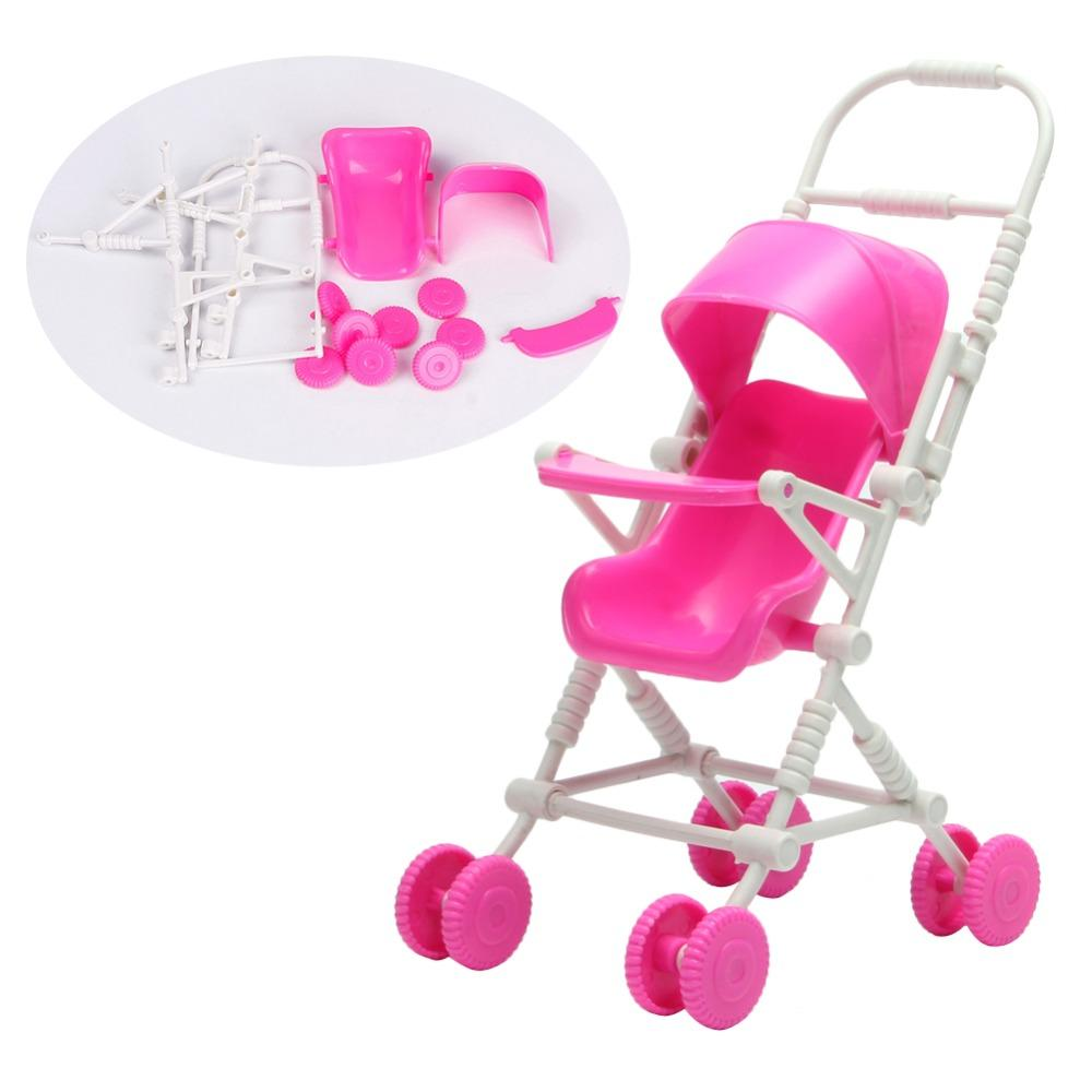New Assembly Doll Baby Stroller Trolley Nursery Furniture Toys Pink Baby  Doll Sets With Accessories Dolls House Accessories From Justokay, $2.62|  Dhgate.Com