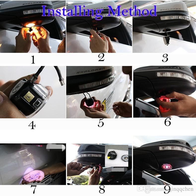 Pour la flaque de miroir latéral à LED Ford sous la lumière du projecteur miroir Lumière de logo pour Edgy Explorateur Mondeo Taurus Everest Auto Ampoules Ampoules Lampe /