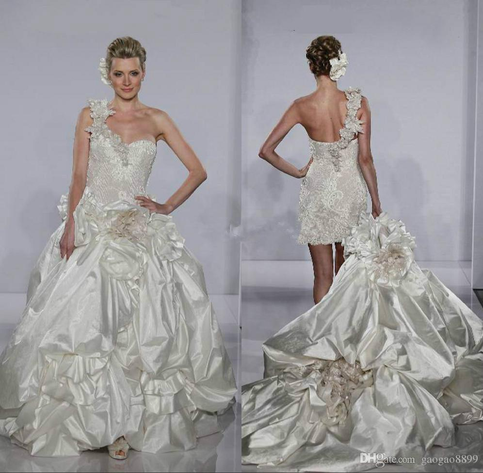Pnina tornai modest ruffles mermaid wedding dresses with for Www dhgate com wedding dresses