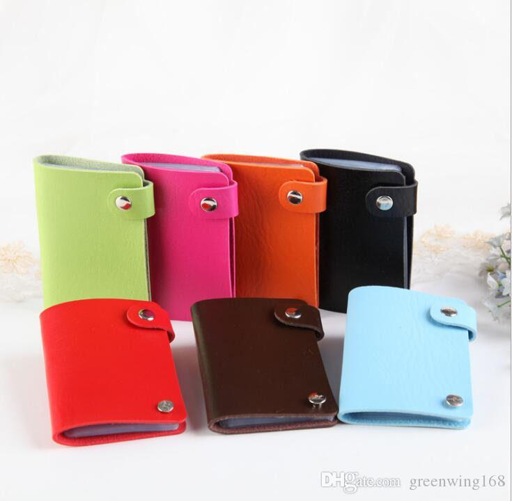 Wholesale Bank Credit Card Holder Male Female Business Card Holders Rotary Card bag Women Purse Gift 10 slots DHL free ship