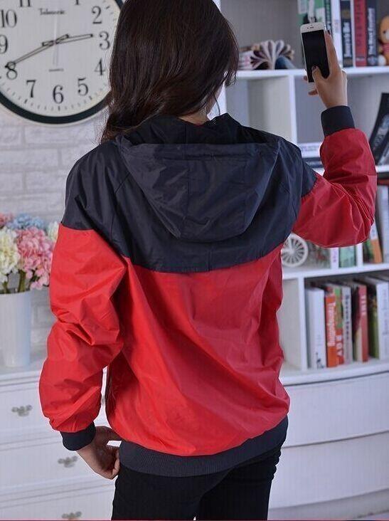 Ücretsiz kargo Güz ince windrunner Erkekler Kadınlar spor yüksek kalite su geçirmez kumaş Erkekler spor ceket Moda fermuar hoodie artı boyutu 3XL
