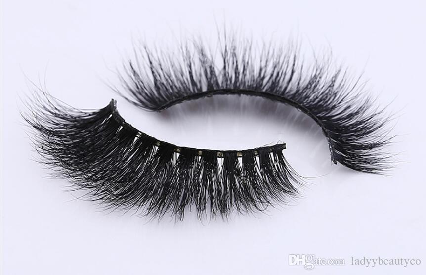 3D vison cílios 100% Sinkian Mink Olho Falsos cílios New Messy Luxuoso 3D Falsa Eye cílios Falsos cílios vison cabelo falso cílios 3D tira