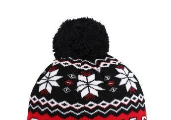 Snowflake Beanie Winter Snow Fleece gefütterte Wintermütze Skifahren Hüte New Orleans Mens Damen Womens Beanie gestrickte Oversize Beanie Caps