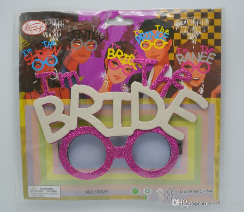 Cool Jäten Party Bräutigam Braut Brille Prop Erwachsene Bachelor Party Lustige Gläser Werkzeug Event Party Supplies