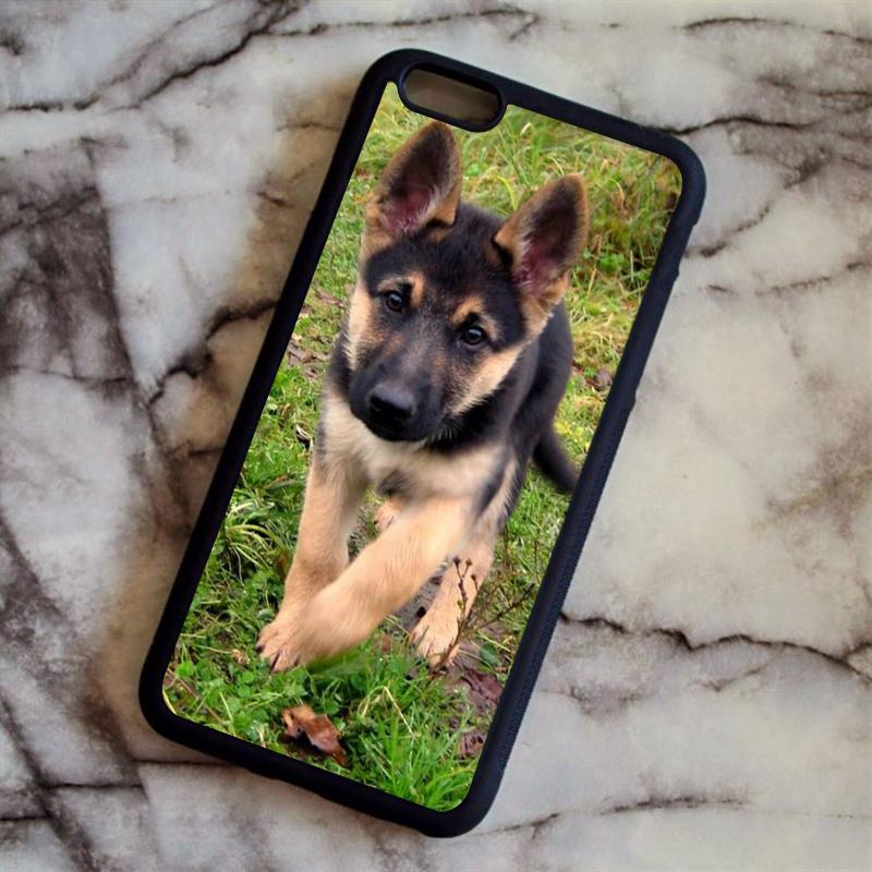 Young German Shepherd Puppy Dog Phone Cases For iPhone 6 6S Plus 7 7 Plus 5 5S 5C SE 4S Back Cover
