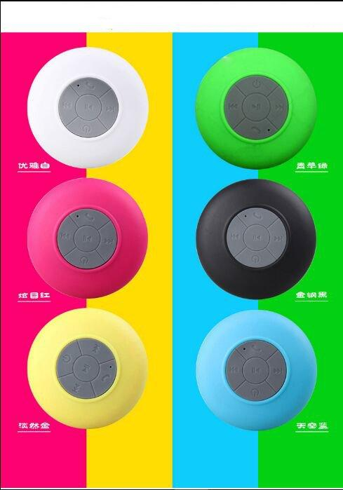 30pcs Mini Wireless Bluetooth Speaker Waterproof Handsfree Mic Suction Chuck Speaker Car Speaker Portable mini MP3 Super Bass Call Receive