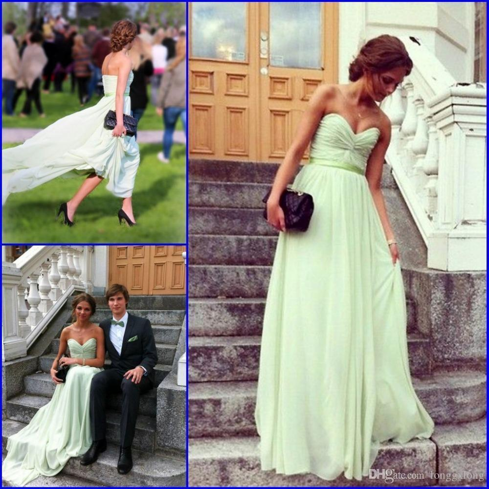 Cheap 2017 mint green bridesmaid dresses strapless sweetheart cheap 2017 mint green bridesmaid dresses strapless sweetheart pleated chiffon floor length maid of honor gowns wedding guest dress chief bridesmaid dresses ombrellifo Image collections