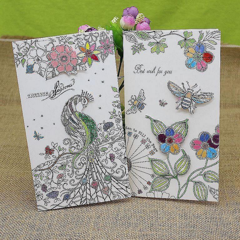 biglietti di auguri 3d carte carte di nozze a mano biglietto di auguri di San Valentino carta di ringraziamento schizzo carta di auguri con busta confezione da 8 pezzi