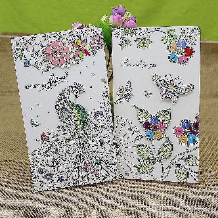 greeting cards 3d cards wedding cards handmade birthday card Valentine Thanksgiving card sketch greetings card with envelope Pack