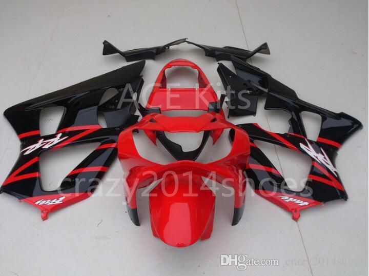 3 free gifts New ABS Motorcycle Fairing KIT for HONDA CBR900RR 929 00 01 CBR 900RR 2000 2001 CBR900 Red Black K9
