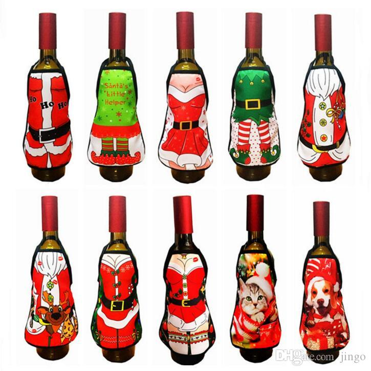 Mini Wine Bottle Apron Cover Decoration Birthday Wedding Party