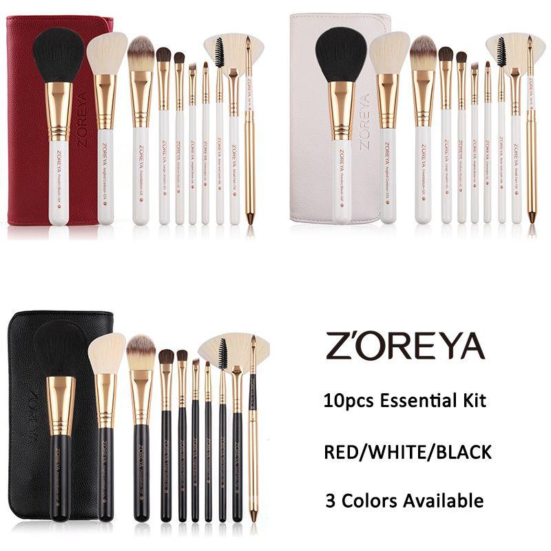 55aa6806d5cb Zoreya Brand 10pcs Makeup Brushes Professional Cosmetic Brush Foundation  Make Up Brush Set The Best Quality !