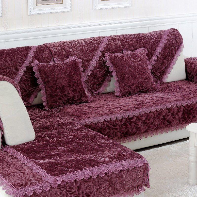 New Design Sofa Slipcover Mat Elegant European Style Rose Seat