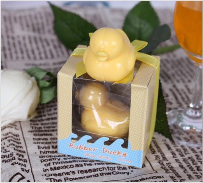 Jabón hecho a mano Ducky Baby Shower Jabón Perfumado Favor del pato del partido para los regalos del favor de la boda 5.5 * 4.5 * 6.3 cm