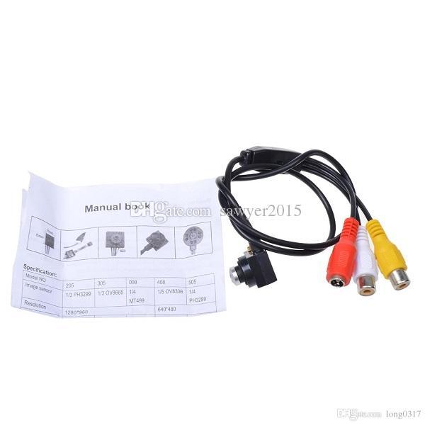 HD 700TVL CMOS tornillo forma estenopeica Mini FPV CCTV Cámara estenopeica DVR Cámara de seguridad para el hogar Cámara de audio en caja al por menor