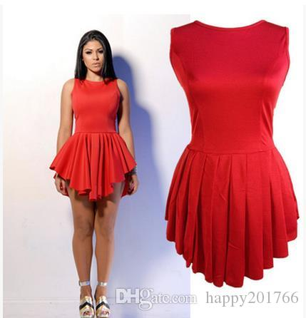 2017 Women's Plus Size Skater Dress Summer Irregular Hem Bandage Dress Clothing Ladies Sexy Party Bodycon Dresses