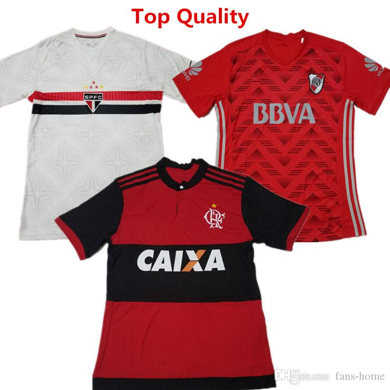 Ropa De Fútbol Flamenco Home Soccer Jerseys Club Atletico River Plate  Vestido De Fútbol Sao Paulo Home Camisetas De Futbol Camisas De Campeones  Por Fans ... 4df479a2beac9