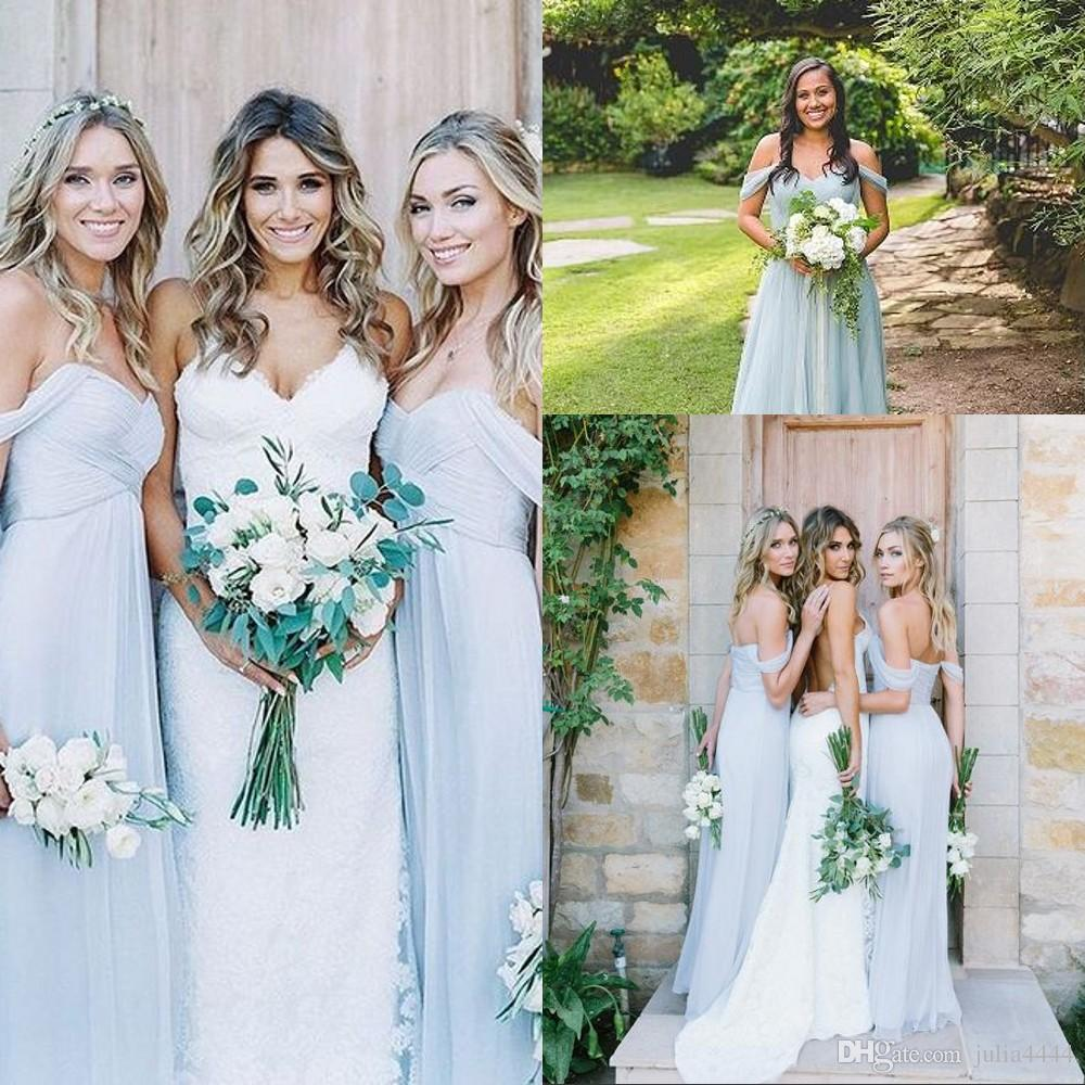 Bridesmaid dresses amsale 2017 gorgeous draped off shoulder beach bridesmaid dresses amsale 2017 gorgeous draped off shoulder beach boho long bohemian wedding party guest bridesmaids gowns chiffon cheap affordable ombrellifo Gallery