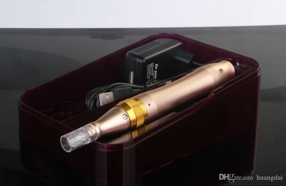 Новые ULTIMA M5-C / M5-W Derma Pen электрический Microneedle ролик Dr. Pen с 5 скоростью цифрового управления