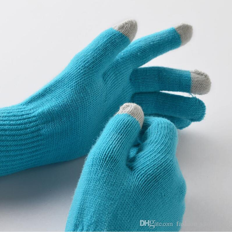 Neue magische Touchscreen-Handschuhe Smartphone Texting Stretch Erwachsene One Size Winterwärmer Knit Hot Christmas Gift