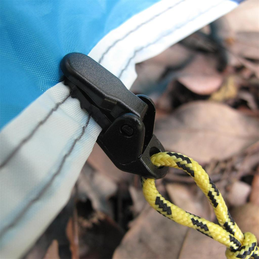 Wholesale-High Quality 10 x Awning Clamp Tarp Clips Snap Hangers Tent  Outdoor Camping Survival Tighten Tools Camping Supplies Accessories