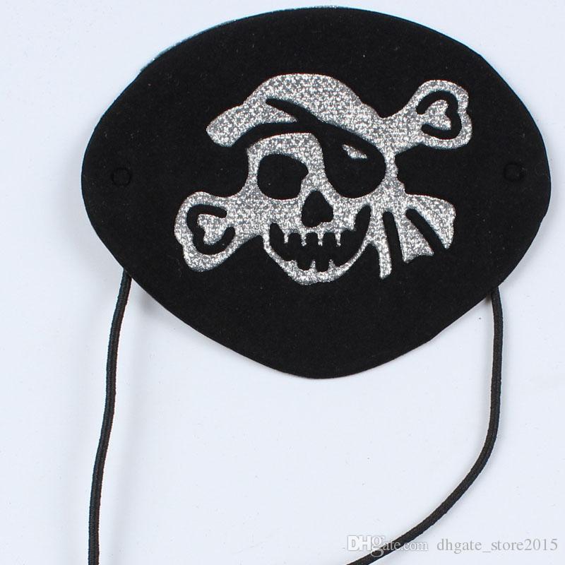 Red/Black Pirate Eye Patch Halloween Masquerade Supplies Skull Printed Cloth Cyclops Eye Mask Children Toys 0601686