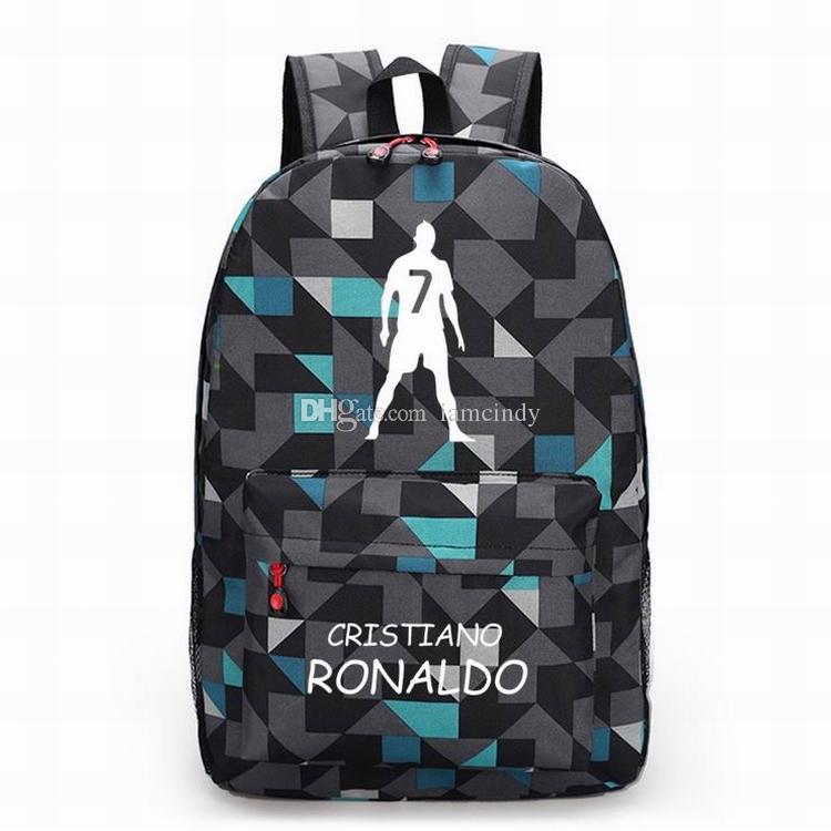 06b345d309a5 Ronaldo Backpacks Kids School Bags Boys Girls Backpack Teenagers Madrid  Soccer Star Souvenir Men Sport Bags Messenger Bags For Women Gym Bags For  Women From ...