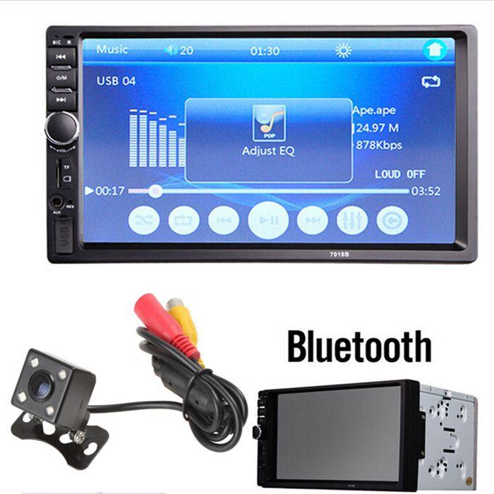 ae708c519 Compre 7018B 7 Polegada LCD HD 2 DIN Do Carro No Painel De Tela Sensível Ao  Toque Bluetooth Estéreo Do Carro FM MP3 MP5 Rádio Player Com Controle  Remoto Sem ...