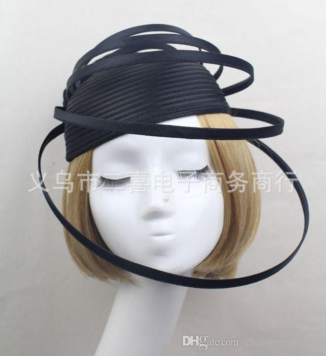 Bridal Accessories Hat Clip Accessories For Christmas Party Wedding Dresses Hair Wear Elegant flower Exaggerated hat white Black