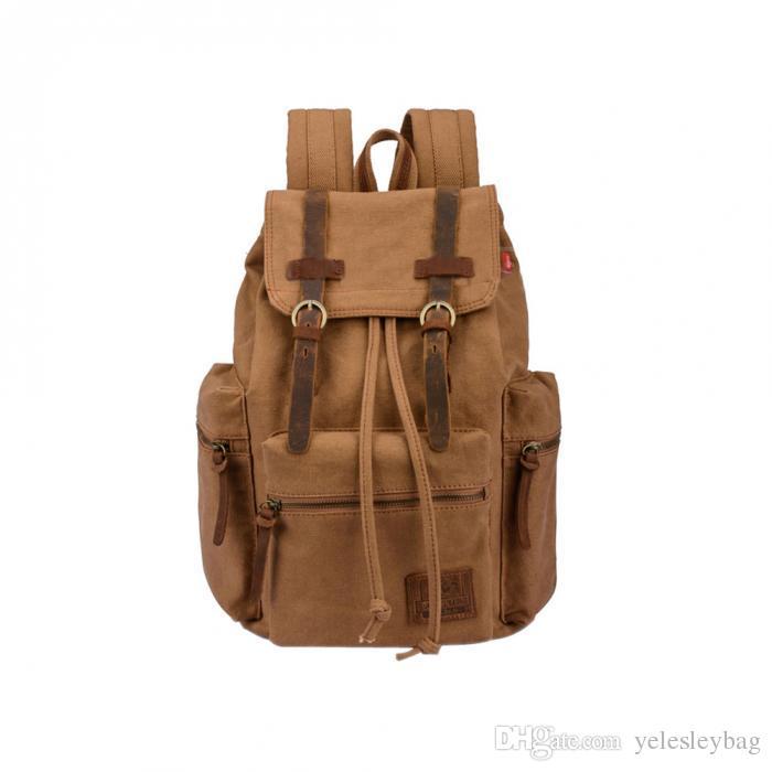 قماش رسول حقيبة العسكرية خمر قماش خمر الرجال عارضة قماش جلد حقيبة الظهر حقيبة حقيبة مدرسية