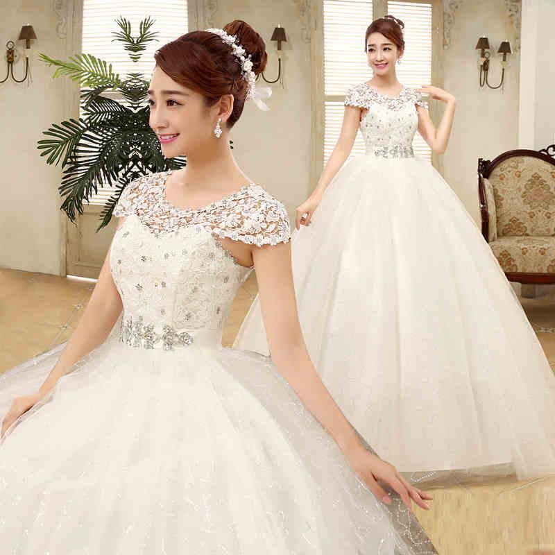 Discount Pretty Maternity Bride Sexy Empire Wedding Dresses Lace Up ...