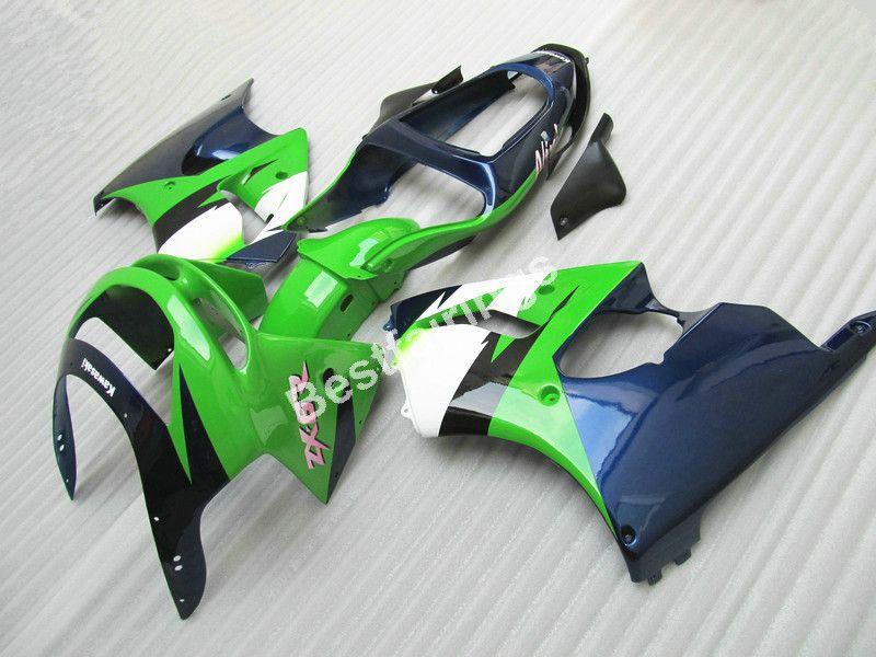 Kit carenatura di alta qualità Kawasaki Ninja ZX6R 98 99 carenature carrozzeria blu profondo verde ZX6R 1998 1999 ET34