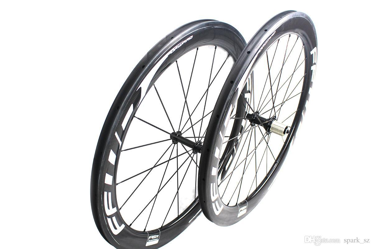 FFWD 빠른 앞으로 F6R 카본 자전거 바퀴 60mm 모든 흰색 decals 클린저 관형 도로 자전거 바퀴 700C 폭 25mm 파워 웨이 R13 허브