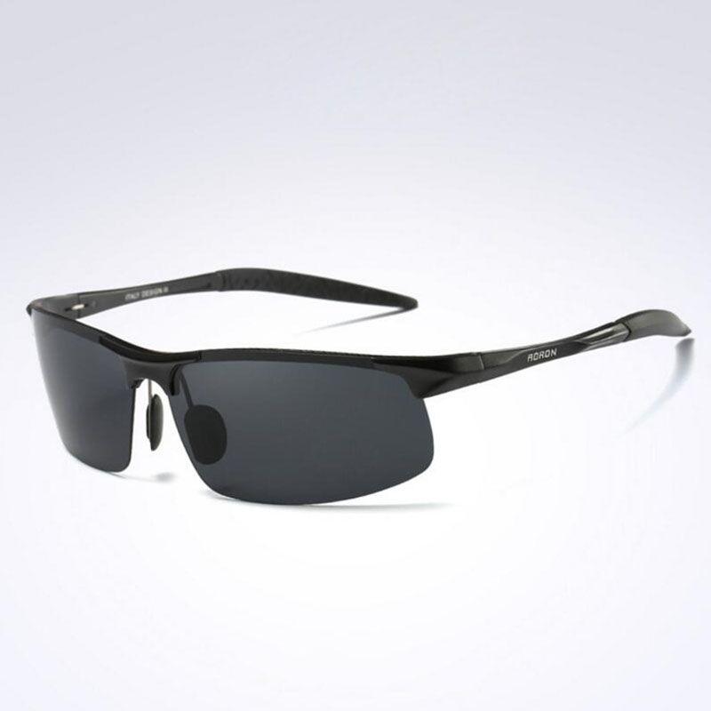 5f58742658 AORON Aluminum Magnesium Men s Sunglasses Polarized Coating Mirror Sun  Glasses Oculos Male Eyewear Accessories For Men 8177 Cycling Glasses  Polarized ...