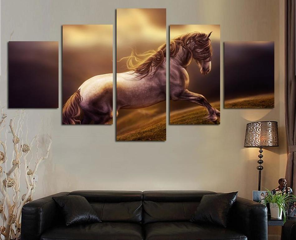 2018 Canvas Printed Modern Horse Animal Painting On Wall Handsome Horse  Wall Pictures For Living Room Study Room DecorationNo Frame From  Fang1422362313, ...