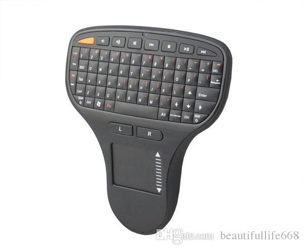 N5903 Mini Palm boyutu 2.4G Kablosuz Klavye ve Fare Combo PC Android TV BOX Smart TV için Touchpad ile