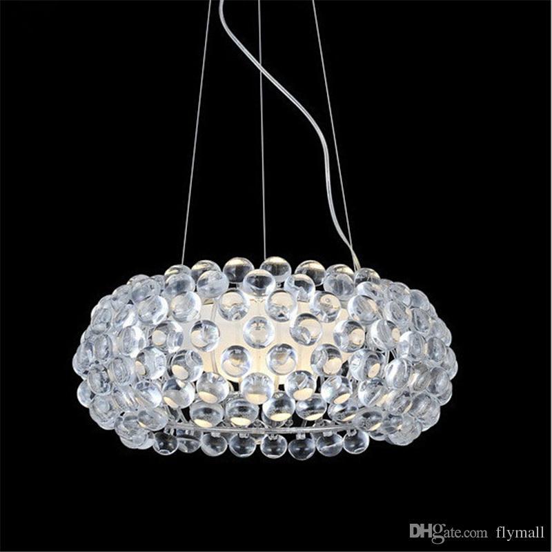 Foscarini Caboche Ball Pendant Lamp Light Led Chandelier Light By Patricia  Urquiola + Eliana Gerotto, Clear Trasparent 35cm/50cm/65cm Light Pendants  Black ...