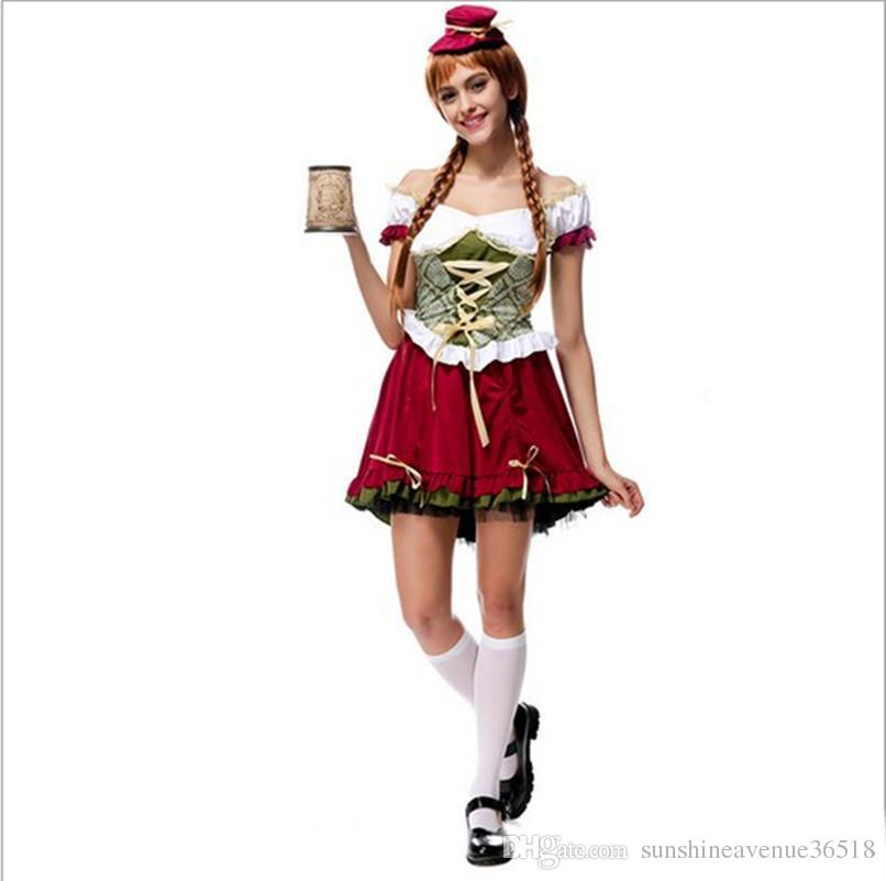 b428df5b2140d 2017 Beer Festival Costume 10Pcs/Lot Sexy Cosplay Halloween Bar Girl  Uniform Temptation Traditional Bavarian National Clothing Hot Selling