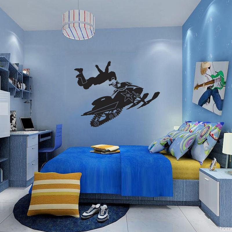 Wall Mural Vinyl Decal Sticker Snowmobile Ski Doo Evolution Kids Boy Room  Decor Diy Unique Wall Decals Wall Mural Decals From Langru1002, $10.05|  Dhgate.Com