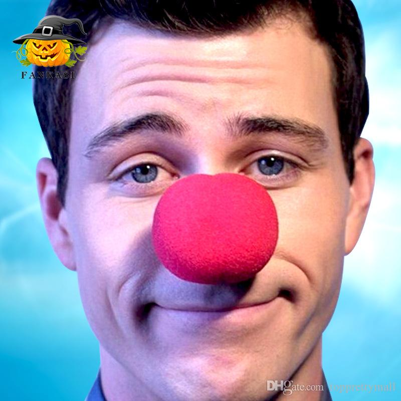 5cm Decoration Sponge Ball Red Clown Magic Nose for Halloween Masquerade Decoration Funny Props RED Foam Ball
