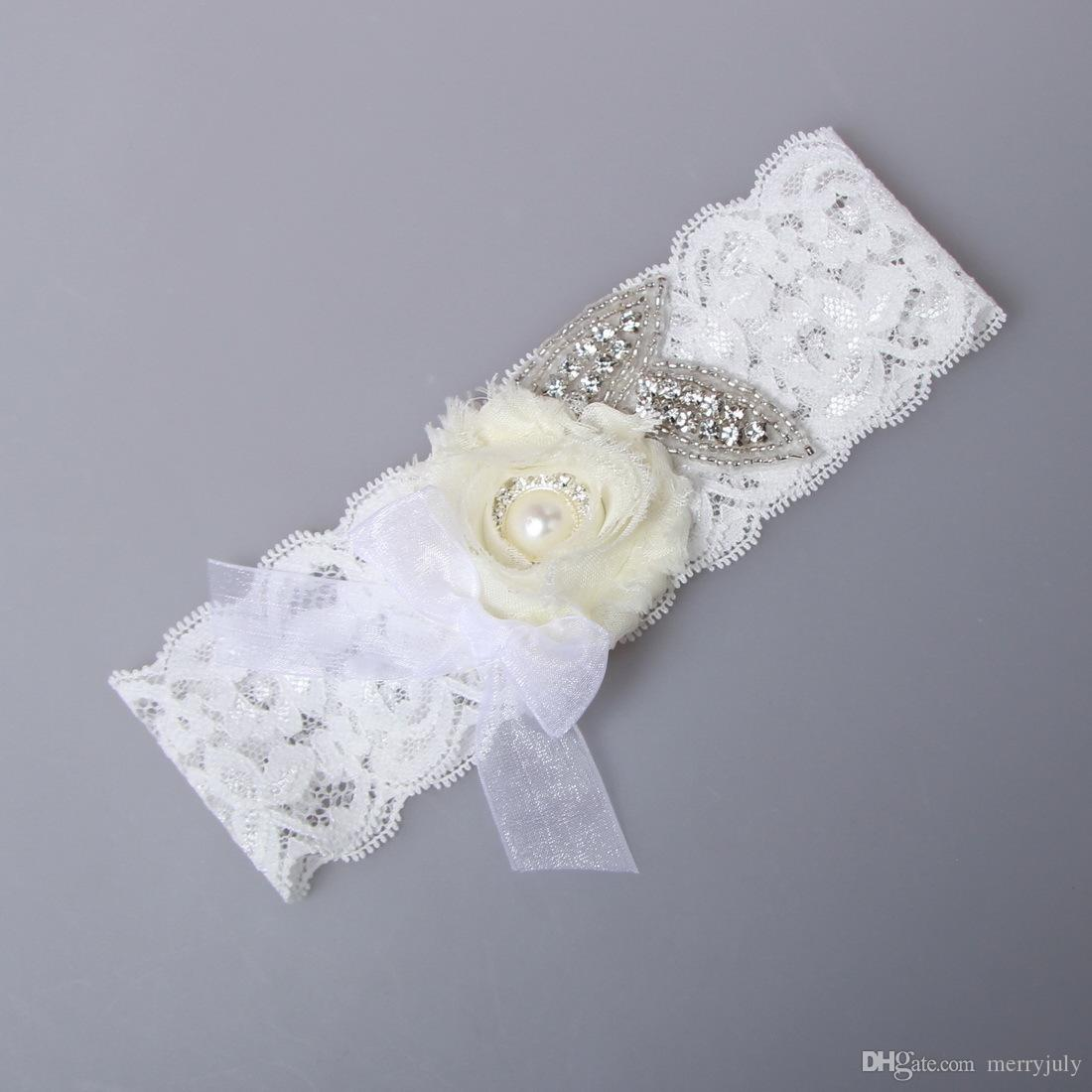 Wedding Bridal Garter Lace with Iovry Flower Bridal Wedding Garter Set Belt Ivory Cheap Prom Leg Garter 2017 In Stock