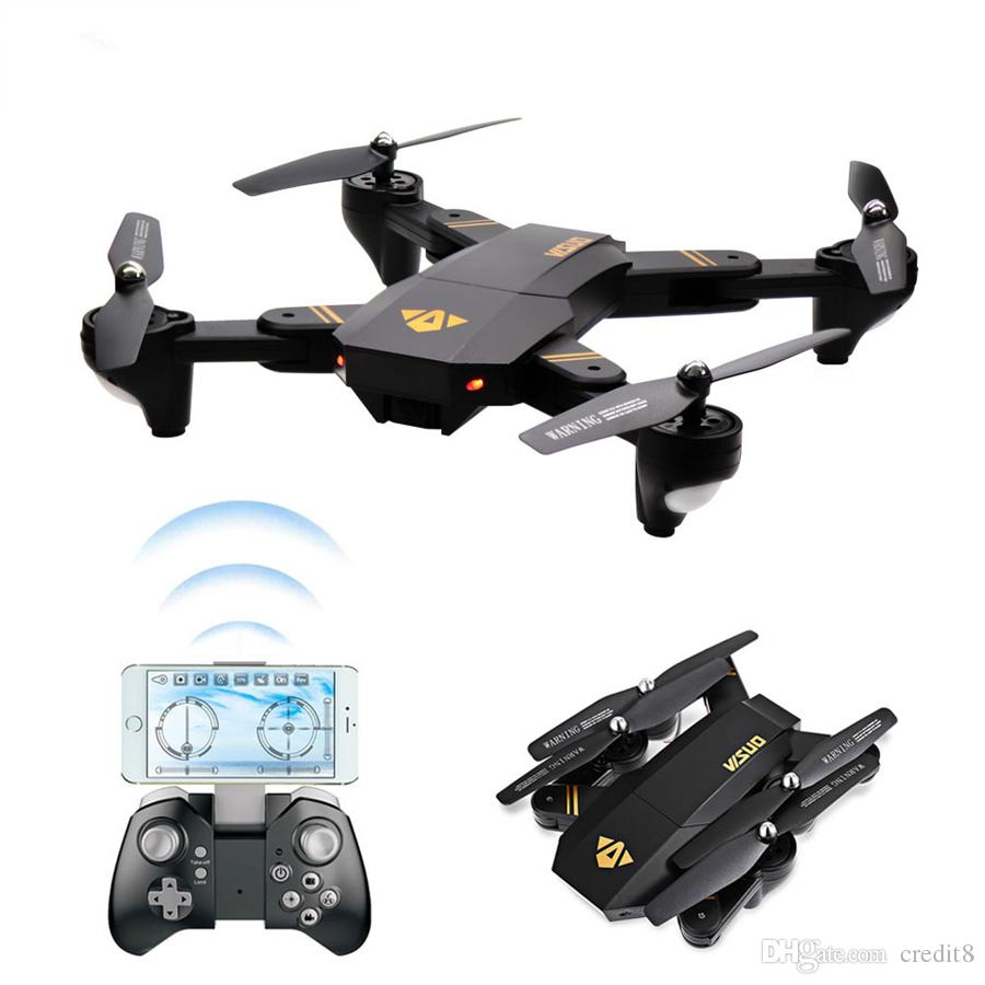 2018 2017 New Visuo Xs809w Xs809hw Rc Dron Mini Foldable Selfie Drone With Wifi Fpv Real Time 2mp Hd Camera Altitude Hold Quadcopter Outdoor Toys From