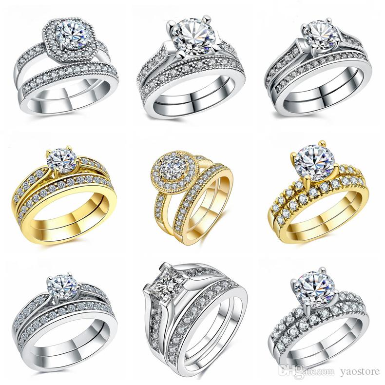 white romantic accessories elegant rings pin yellow for unique wide marriage band wedding bridal gold