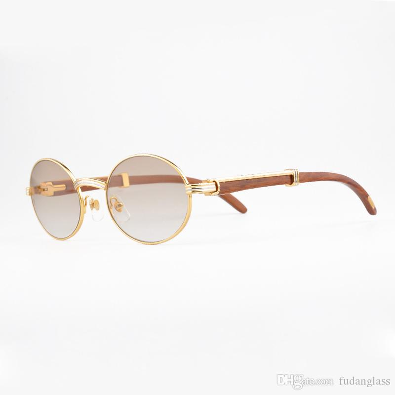 luxury brand 18k gold sunglasses metal frames real wooden designer sunglasses brands for men vintage wood glasses with red box luxury sunglasses designer - Wood Glasses Frames